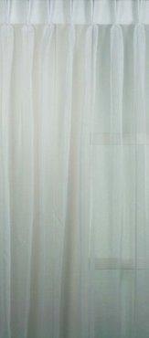 Voile Vitrage stof kamerhoog met loodveter - wit