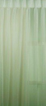 Voile Vitrage stof kamerhoog met loodveter 280 cm hoog  - Gebroken wit